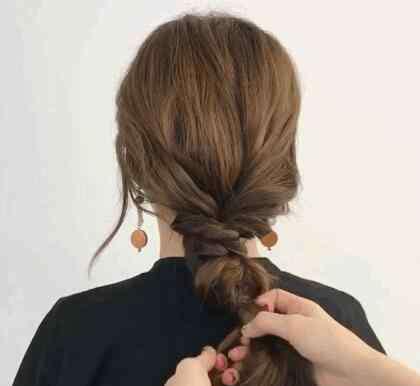 自己可以编的简单发型 简单自编发型