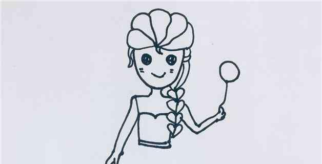 公主的画法 艾莎公主的画法