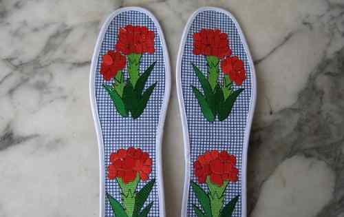 鞋垫图案大全 十字绣鞋垫花样图纸十字绣鞋垫的图案