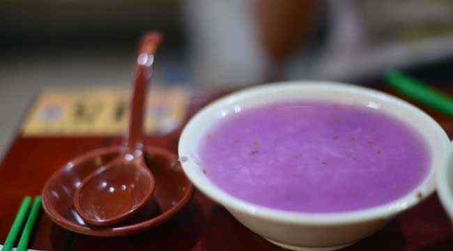 紫薯粥 紫薯粥为什么是蓝色的?