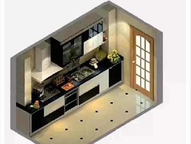 厨房平面图 厨房布局平面图 做饭不腰疼