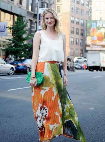 欧美潮流街拍 欧美时尚潮人街拍 橙色一点也不难驾驭