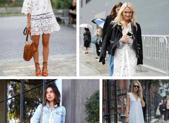 白色连衣裙搭配 白色连衣裙配什么鞋子好看 时尚混搭单品小白鞋