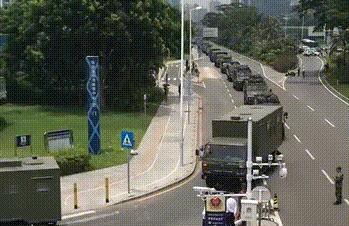 【终于】大批武警车队深圳集结 人民日报官宣