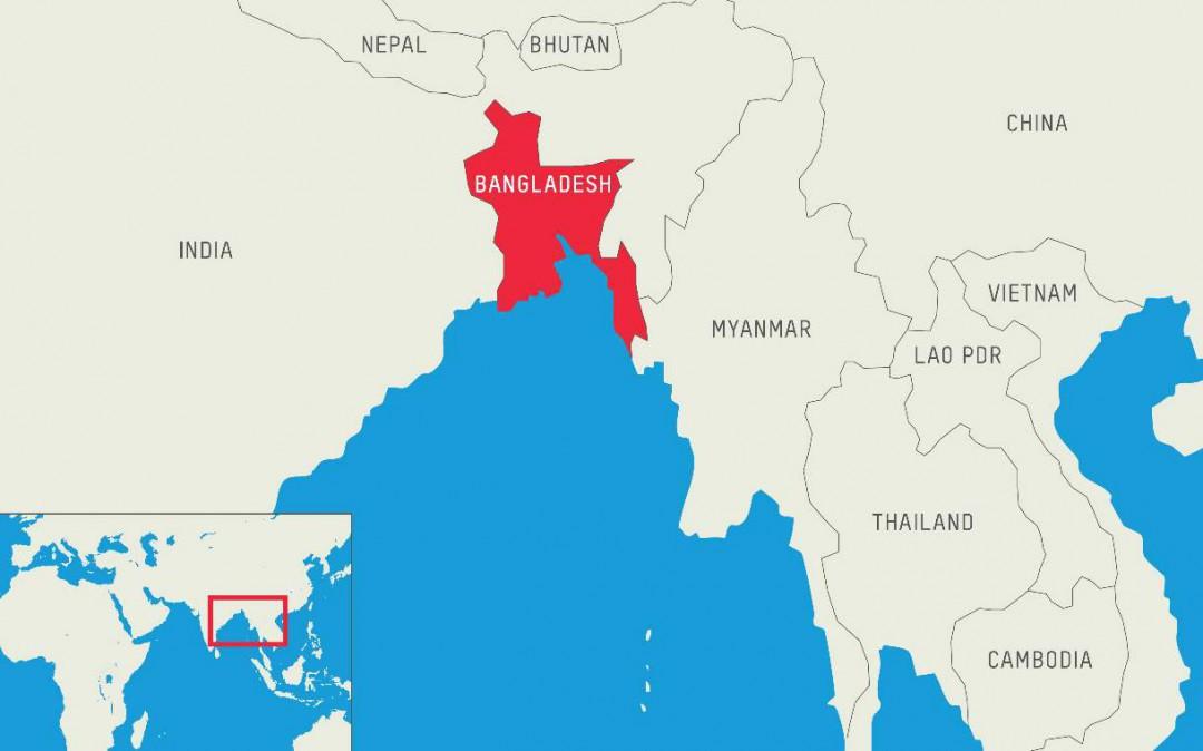 孟加拉国在世界地图的位置 离中国有多远