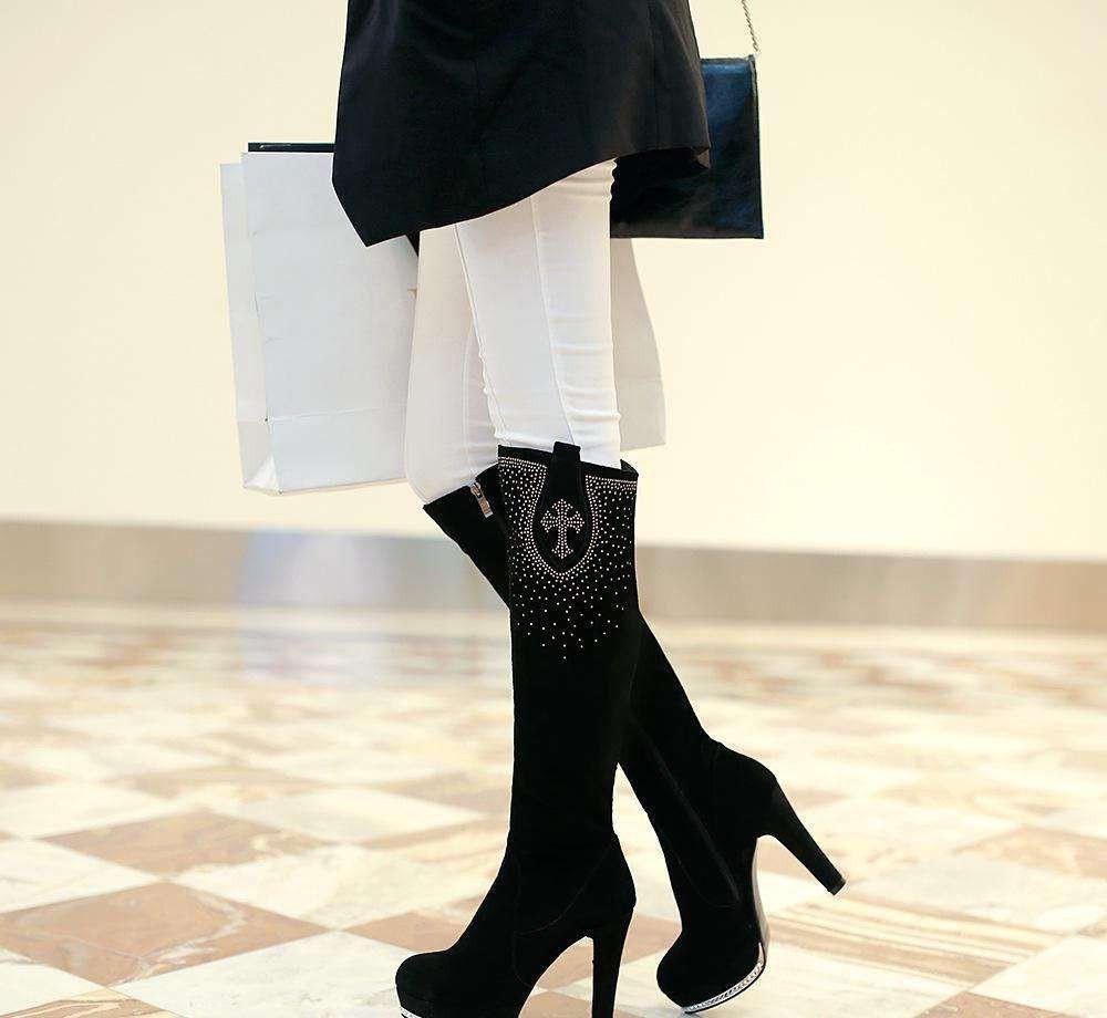 高筒靴搭配 七种搭配方法