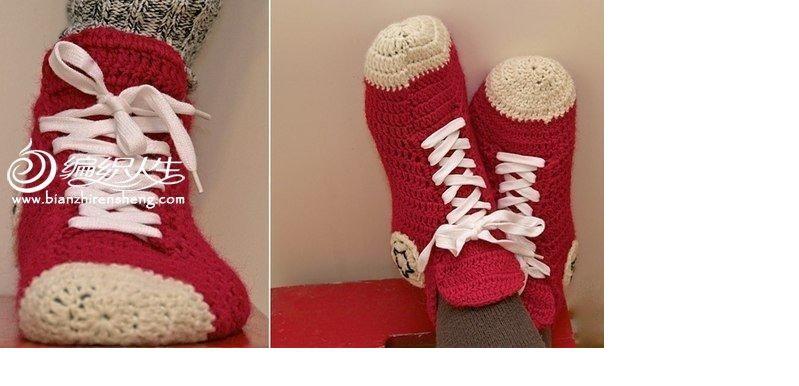 地板袜钩织教程 地板袜的织法