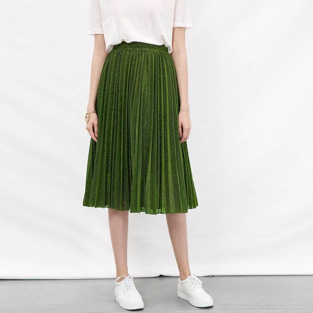 墨绿色裙子怎么搭配上衣 两点教会你搭配