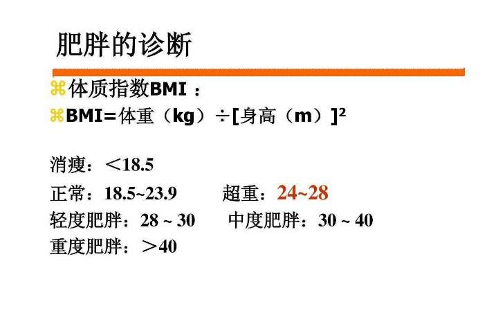 体质指数怎样计算 人的体质指数算法