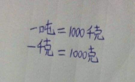 一吨等于多少千克 你了解了吗