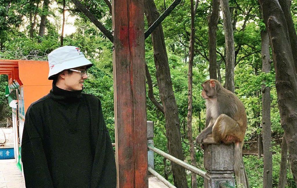 【萌】刘昊然和猴子对视什么情况 网友:两个小可爱