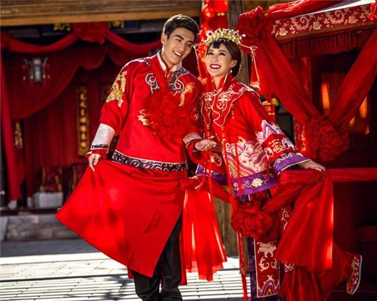 中式古装婚纱照 古装结婚照图片欣赏