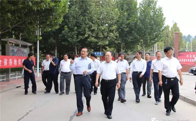 原河北省人民政府副省长刘健生到安平县视察指导教育工作