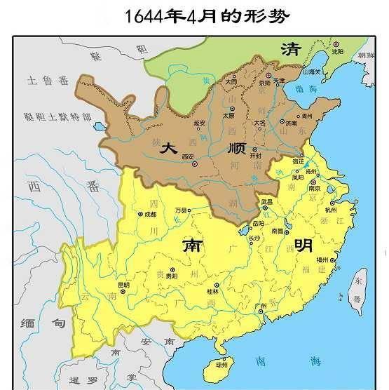 从地图上看南明王朝是怎样一步步走向灭亡的,看得令人心痛