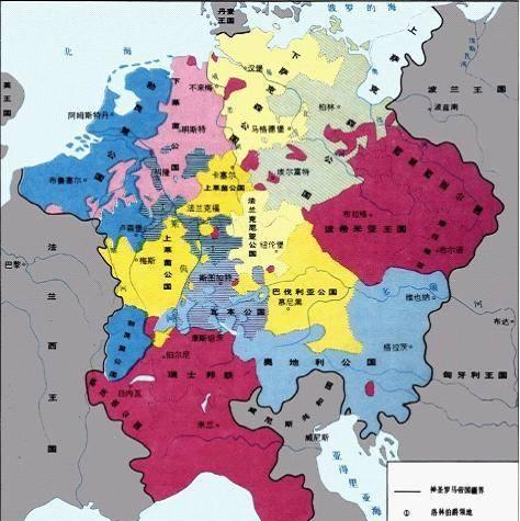 六张地图搞懂德国的版图变迁,虽然领土严重缩水,但还是强国!