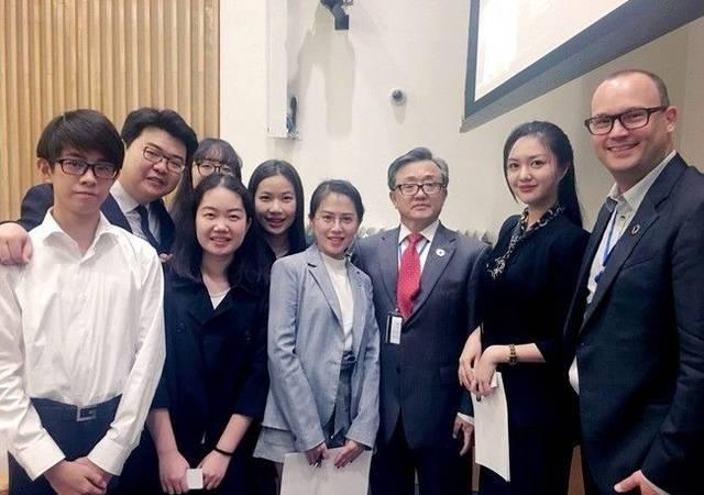 新海园2014届校友彭雪茹参加第72届联合国大会高级别论坛活动