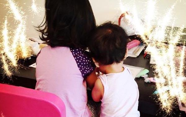 罗海琼两女儿照片曝光 坦言看见女儿笑觉得太美好了