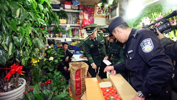 """上海花店老板卖烟花被行拘,""""以为今年不会那么严格"""""""
