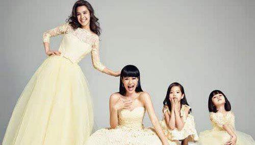 钟丽缇的三个孩子图片曝光 严紫凝严稚棱谁更漂亮