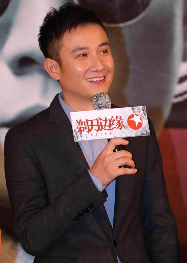 【图】电视剧剃刀边缘上海举行发布会 文章马伊琍笑容满面现身