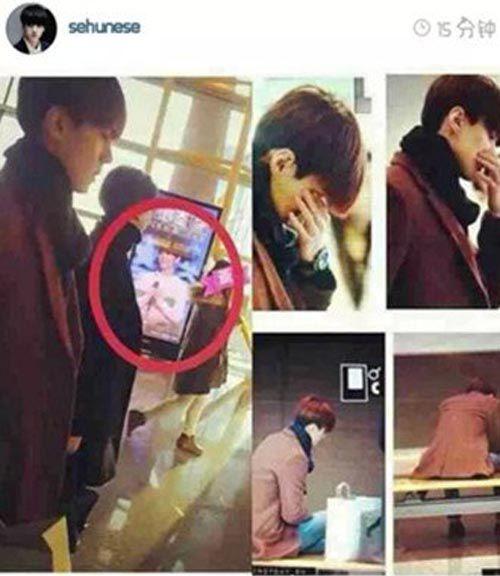 世勋看见鹿晗广告牌什么反应 小鹿和EXO还有联系吗