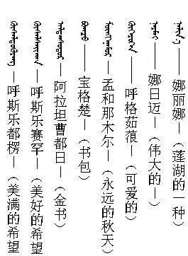 【蒙古名字】给孩子起蒙古名字的看这里 蒙古名字大全 赶紧收藏!