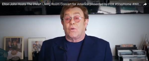 艾尔顿·约翰主持全明星卧室音乐会,10分钟筹100万美元