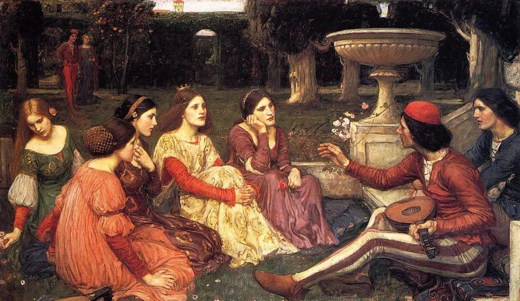 1348年黑死病期间,薄伽丘的花园故事