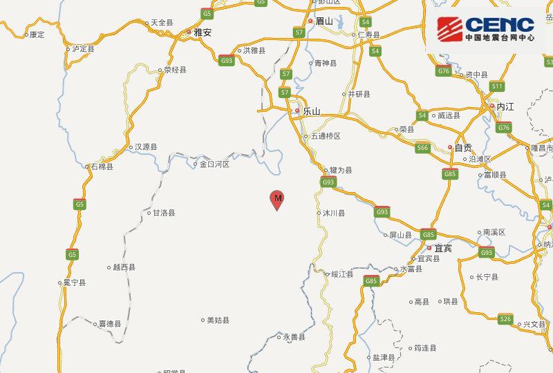 四川乐山马边县发生3.8级地震:乐山震感强烈,成都有震感