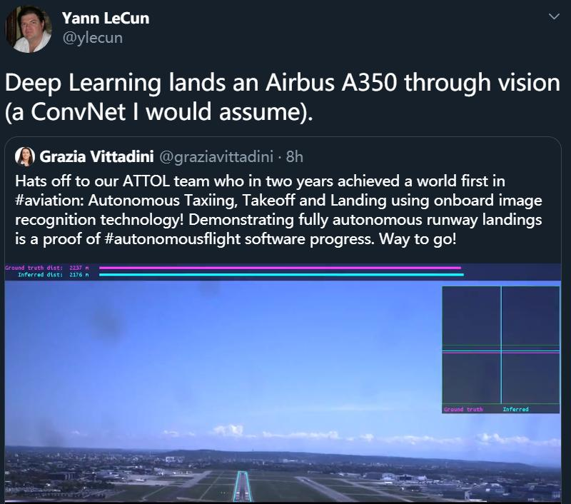 未使用GPS与盲降系统,深度学习开的空客350你敢坐吗?