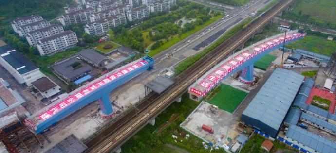 总长301米,总重2.3万吨!地铁4号线超大转体桥今晚转体
