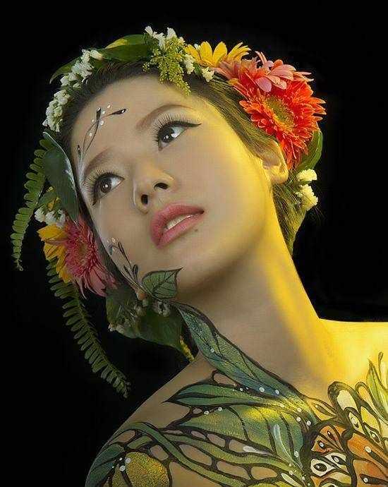 人体彩绘艺术欣赏这些美如天仙的彩绘艺术作品,你心动了吗?
