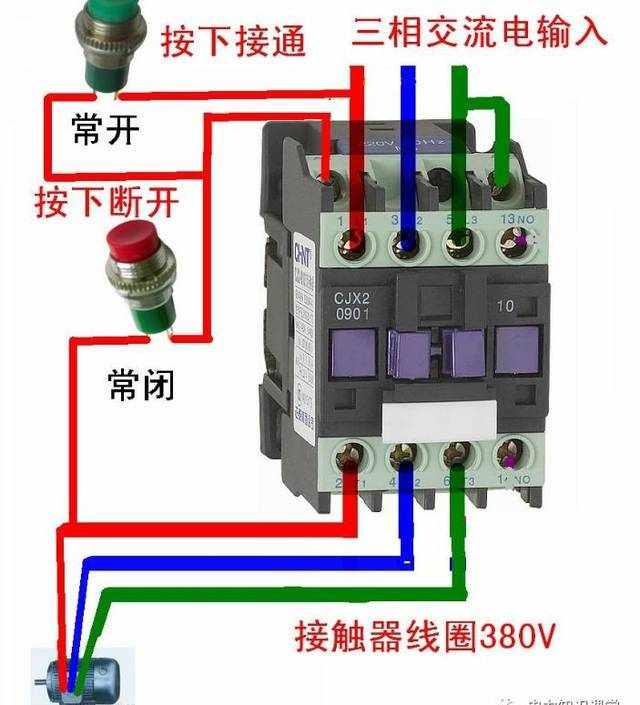交流接触器的工作原理和接线方式