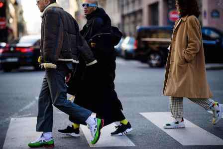 阔腿裤搭配上衣图片 男士阔腿裤搭配上衣图片 冬天也要有型