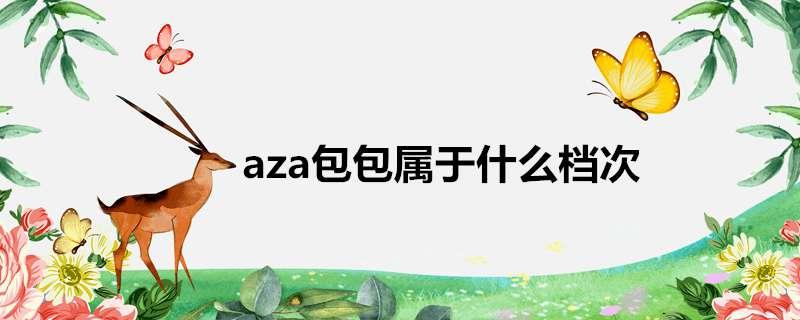 aza包 aza包包属于什么档次