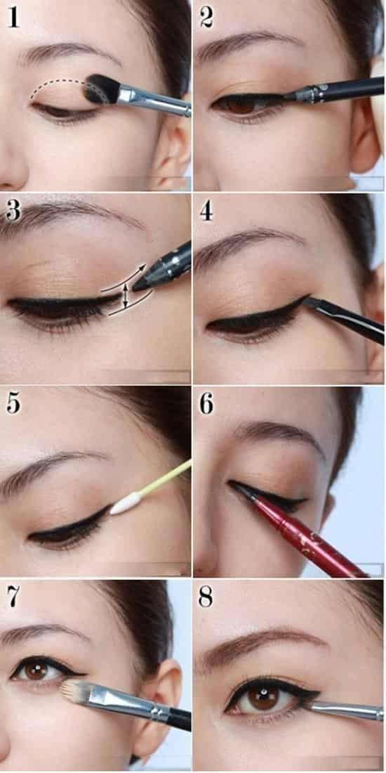 眼线液的画法步骤图 眼线液的画法步骤图 9步轻松打造不晕妆