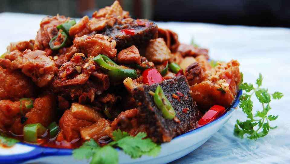 血耙 凤凰传统名菜:血耙鸭
