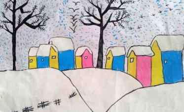 儿童画画大全简单漂亮 冬天的儿童画幼儿园图片大全 儿童画冬天简单又漂亮