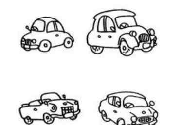 汽车简笔画 汽车的简笔画怎么画简单画法 汽车的简笔画图片大全