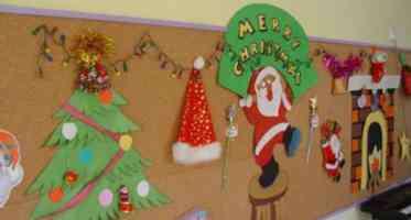 圣诞节布置图片 幼儿园圣诞节环境创设图片大全 关于圣诞节的环境布置图片
