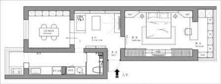 单身公寓装修图 58㎡单身公寓装修效果图 小公寓也可以这么装修的
