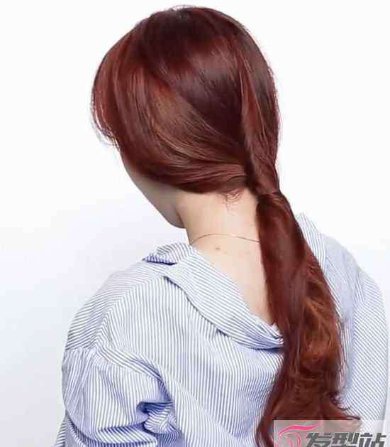头发怎么扎好看图解 直接用头发绑头发图解 不用橡皮筋也能扎出好看马尾