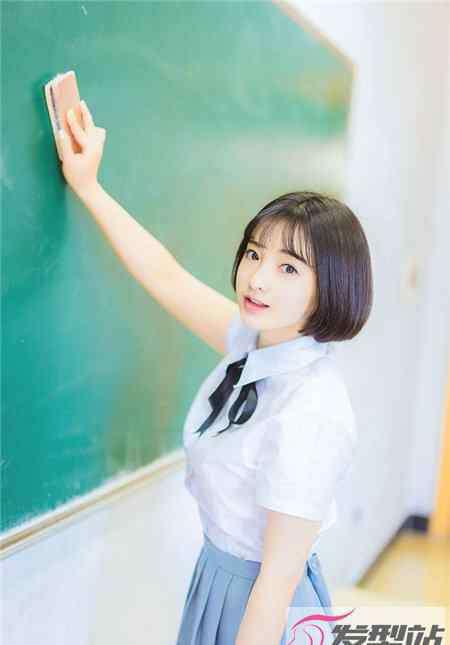 学生装发型 学生剪什么短发好看 展现青春活泼气质美