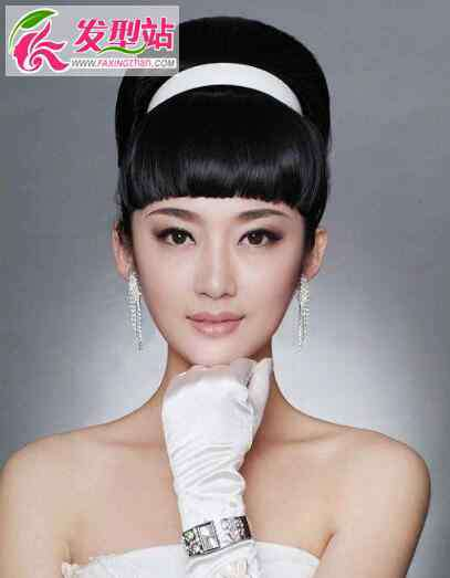 齐刘海新娘 新娘的发型有没有齐刘海的 适合齐刘海的新娘发型